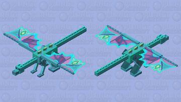 Aqua-Butterfly Dragon Minecraft Mob Skin
