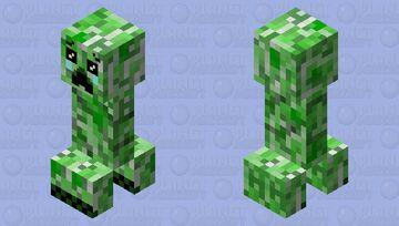 Sad Creeper Minecraft Mob Skin
