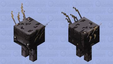 ancient strider (it's so old it is only black stone) Minecraft Mob Skin
