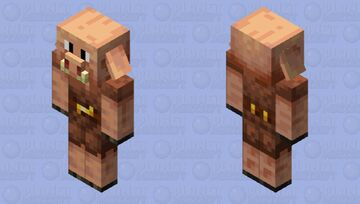 Piglin but how come it's good? (Improved piglin Minecraft Mob Skin