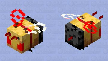 Angry Killer Bee skin FINALLY COMPLETE Minecraft Mob Skin