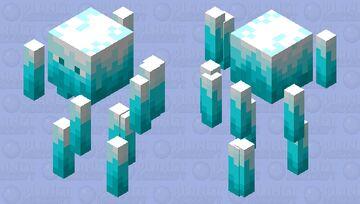 Ice Blaze Minecraft Mob Skin