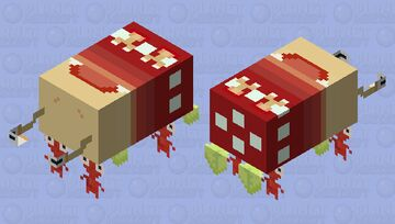 Pikmin - Red Pikmin carrying Bulborb Minecraft Mob Skin