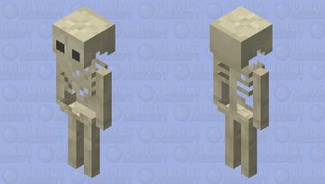 Old Skeleton Minecraft Mob Skin
