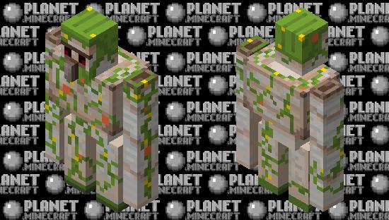 Overgrown Golem Minecraft Skin