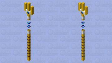 Sapphire Trident Minecraft Mob Skin