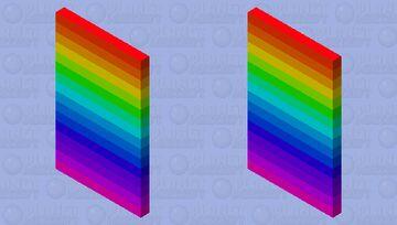 Rainbow Gradient Cape Minecraft Mob Skin