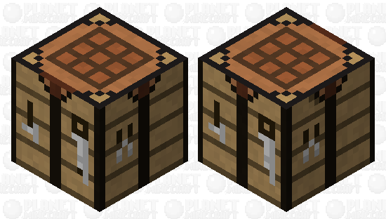 Crafting Table  (Making Minecraft Harder} Minecraft Skin