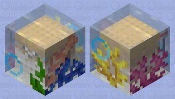 Pufferfish in Ocean Chunk Minecraft Mob Skin