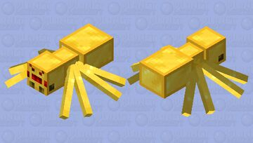 Golden Spider Minecraft Mob Skin