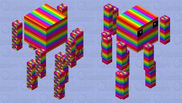 Rainbow Blaze Minecraft Mob Skin