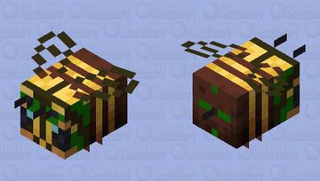Forest Bee Minecraft Mob Skin