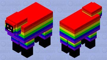 Rainbow Sheep Boy Minecraft Mob Skin