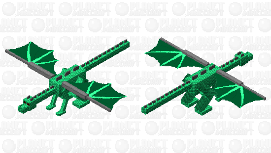 Green scaly dragon Minecraft Skin