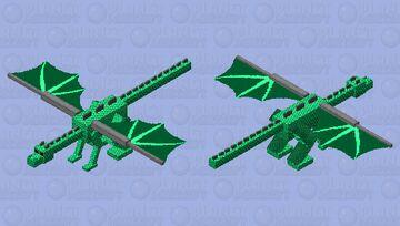 Green scaly dragon Minecraft Mob Skin