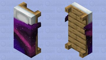 Galaxy Bed Minecraft Mob Skin