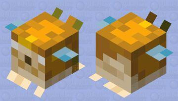 Medium Herobrine Pufferfish Minecraft Mob Skin