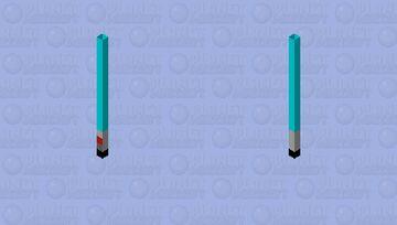 Trident: Lightsaber(Blue) Minecraft Mob Skin