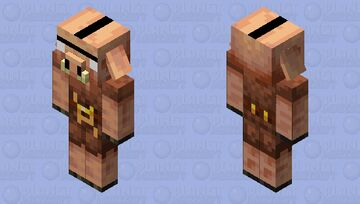 Angry Piglin Minecraft Mob Skin
