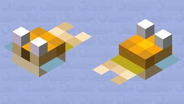 Small Herobrine Pufferfish Minecraft Mob Skin
