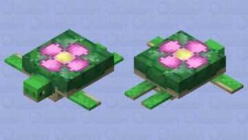 Turtle... But with a Flower on it's Back Minecraft Mob Skin