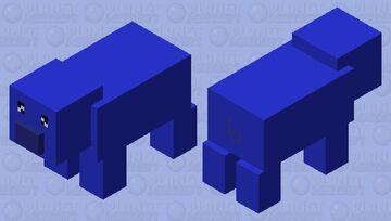 Blue Pig Minecraft Mob Skin