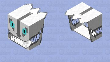 Gaster Blaster (attemps #2) Minecraft Mob Skin