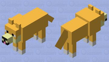 Doge Wolf Skin Minecraft Mob Skin