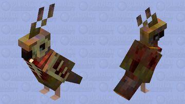 Zombie parrot Minecraft Mob Skin