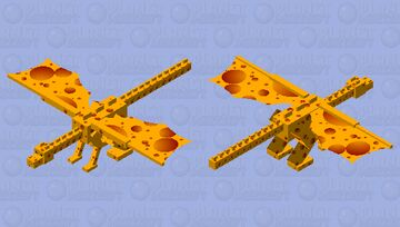 Swiss cheese dragon Minecraft Mob Skin