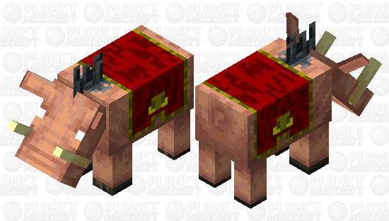 hoglin with piglin-carpet Minecraft Skin