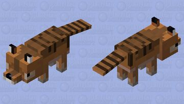 Tasmanian Tiger. (Thylancine.) (Mineozoic.) Minecraft Mob Skin