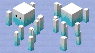 White Hot Blaze Minecraft Mob Skin