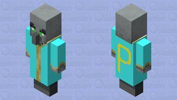 Evoker w/ blue costume & green eyes Minecraft Mob Skin