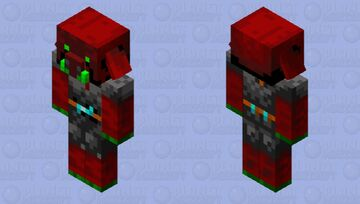 Nuclear Nether Piglin Minecraft Mob Skin