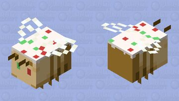 Christmas Cookie Bee Minecraft Mob Skin