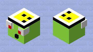 Slime Wearing Hat Minecraft Mob Skin