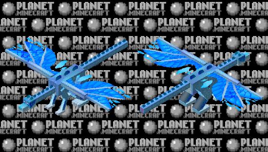 Frost Dragon Minecraft Skin