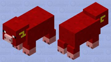 The fastest pig Minecraft Mob Skin