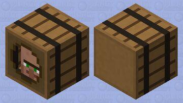 Villager In a Barrel Minecraft Mob Skin