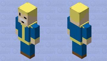 Vault Boy Vindicator Minecraft Mob Skin