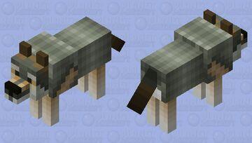 Gray Wolf second version Minecraft Mob Skin
