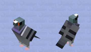 Pombo-comum (Columba livia) Minecraft Mob Skin