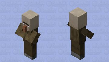 Witch without hat and robe Minecraft Mob Skin