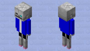 WAIT SANS- Minecraft Mob Skin