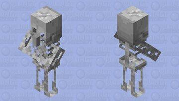 The skeleton villager Minecraft Mob Skin