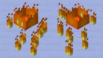 Cutesy blaze Minecraft Mob Skin