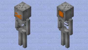 Steel Skeleton Minecraft Mob Skin