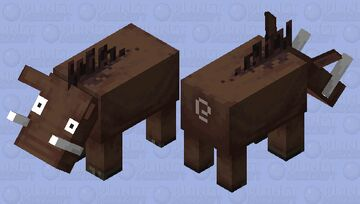 Hoglin but no go away Minecraft Mob Skin