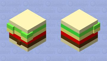 yummy cheeseburger Minecraft Mob Skin